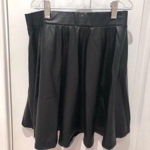 Dresses & Skirts - Leather skater skirt